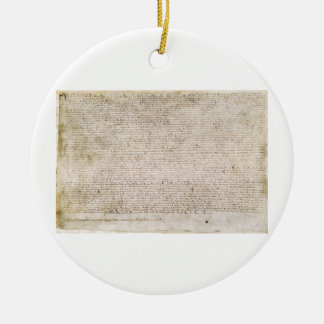 The Magna Carta of 1215 Charter of Liberties Ceramic Ornament