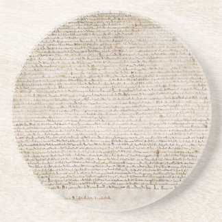 The Magna Carta of 1215 Charter of Liberties Beverage Coaster