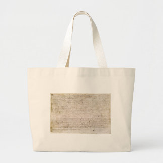 The Magna Carta of 1215 Charter of Liberties Large Tote Bag