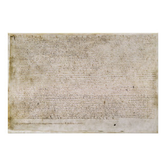 The Magna Carta of 1215 Charter of Liberties Poster