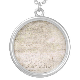 The Magna Carta of 1215 Charter of Liberties Round Pendant Necklace