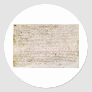 The Magna Carta of 1215 Charter of Liberties Round Sticker