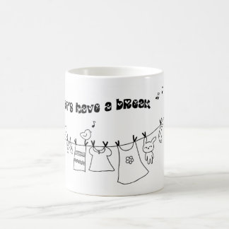 The magnetic cup of the scenery which has the laun classic white coffee mug