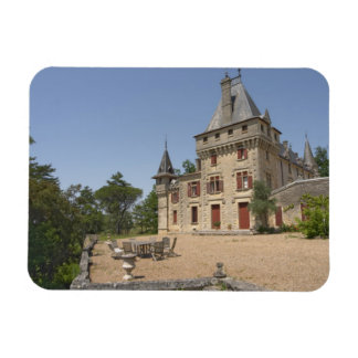 The magnificent Chateau de Pressac and garden Rectangular Photo Magnet
