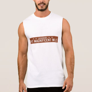 The Magnificent Mile, Chicago, IL Street Sign Sleeveless Shirt