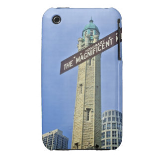 'The Magnificent Mile Sign with the Water Tower, iPhone 3 Cover