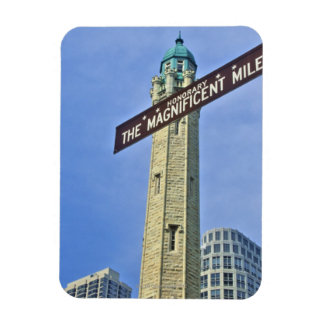 'The Magnificent Mile Sign with the Water Tower, Magnet
