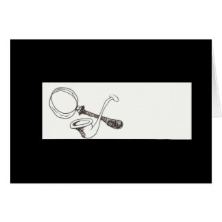 The Magnifying Glass And The Meerschaum Pipe Card