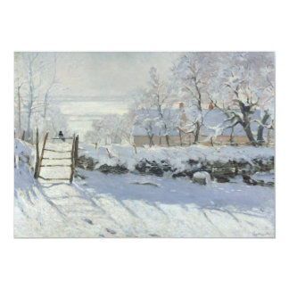 The Magpie by Claude Monet Card