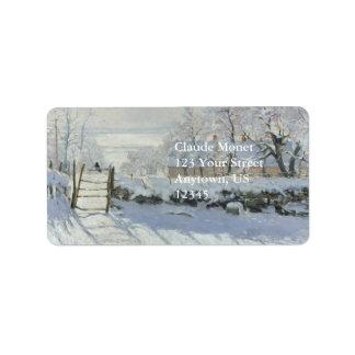 The Magpie by Claude Monet Label