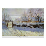 The Magpie by Claude Monet Poster