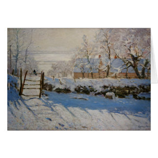 The Magpie La Pie by Claude Monet Greeting Card