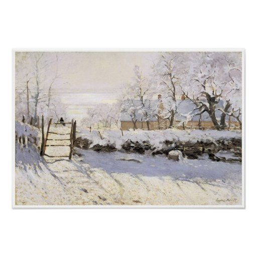 The Magpie, Snow Effect, Outskirts of Honfleur Poster