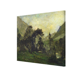 The Mahoura at Cauterets Stretched Canvas Prints