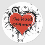 The Maid Of Honor Round Stickers