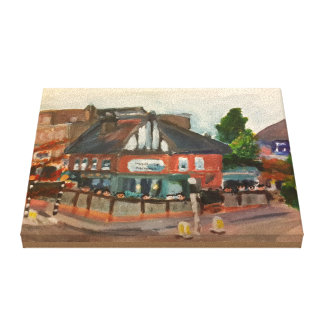 """The Maid of Muswell With Patrons 10"""" x 8"""" Canvas Print"""
