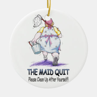 The Maid Quit Ceramic Ornament