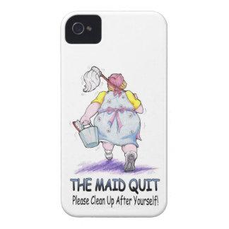 The Maid Quit iPhone 4 Case-Mate Case