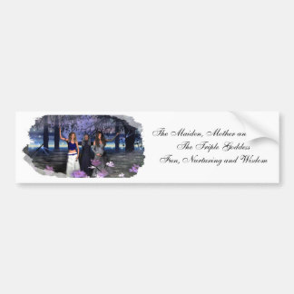 The Maiden, Mother and Crone Car Bumper Sticker
