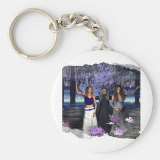 The Maiden, Mother and Crone Basic Round Button Keychain