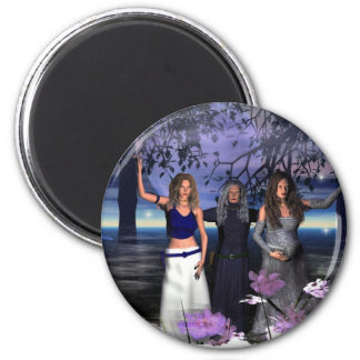 The Maiden, Mother and Crone 2 Inch Round Magnet