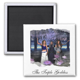 The Maiden, Mother and Crone 2 Inch Square Magnet