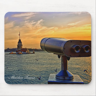 The Maiden Tower At Istanbul, Turkey. Mouse Pad