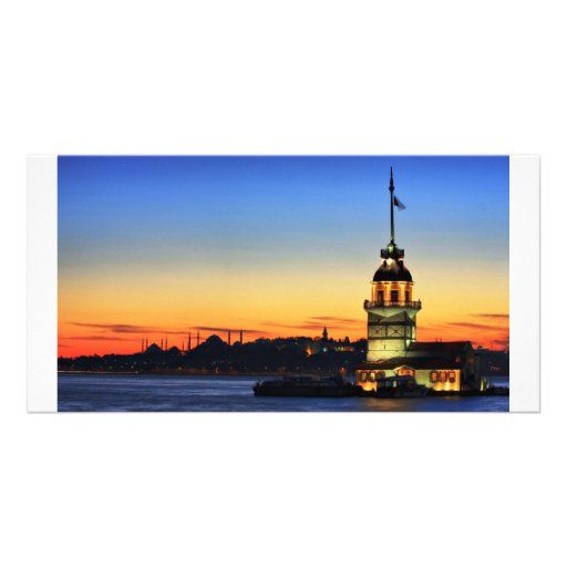 The Maiden's Tower in Istanbul Photo Card