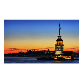 The Maiden's Tower in Istanbul Print