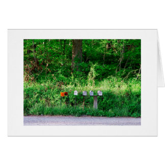 The Mailboxes Stationery Note Card
