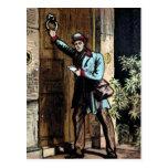 """""""The Mailman"""" Vintage Illustration Postcard"""