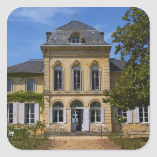 The main chateau building, renovated by square sticker