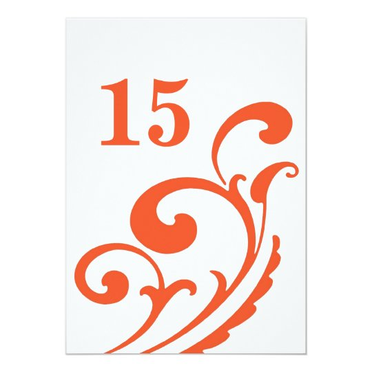 The Main Course - table number Card