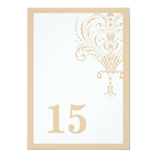 The Main Course - table number 4.5x6.25 Paper Invitation Card