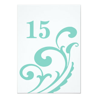 The Main Course - table number 5x7 Paper Invitation Card