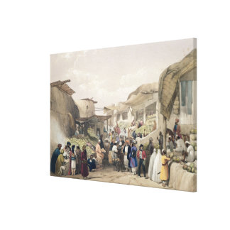 The Main Street in the Bazaar at Caubul, in the Fr Canvas Print