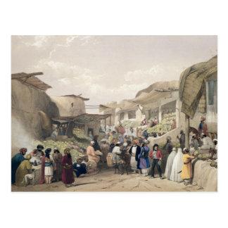 The Main Street in the Bazaar at Caubul, in the Fr Postcard