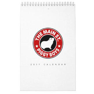 The Main Street Piggy Boys Calendar
