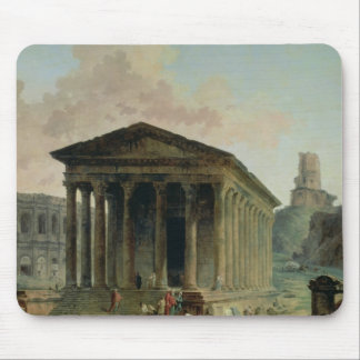 The Maison Carree with the Amphitheatre Mouse Pad