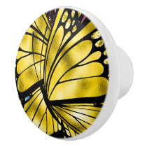 The Majestic Butterfly Ceramic Knob