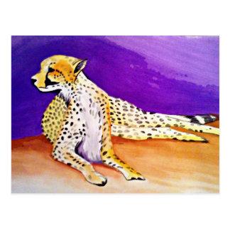 The Majestic Cheetah (Kimberly Turnbull Art) Postcard