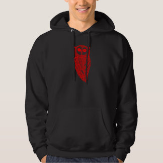 The Majestic Owl Hoodie (Red Owl)