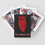 The Majestic Owl Playing Deck Poker Cards