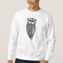 The Majestic Owl Sweatshirt (Black And White)
