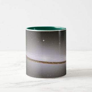 The Majestic Sombrero Galaxy (M104) Two-Tone Coffee Mug
