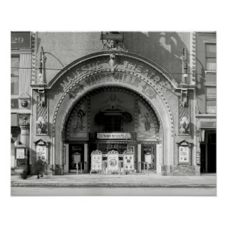 The Majestic Theatre, 1910. Vintage Photo Poster