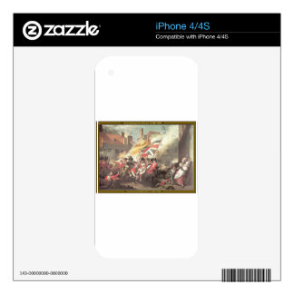 The Major Peirson's Death by John Singleton Copley iPhone 4 Decal