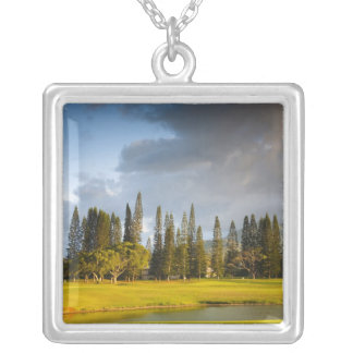 The Makai golf course in Princeville 2 Silver Plated Necklace