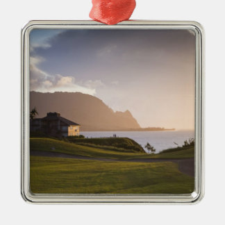 The Makai golf course in Princeville 3 Christmas Tree Ornaments