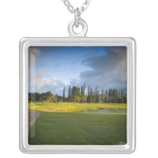 The Makai golf course in Princeville Silver Plated Necklace